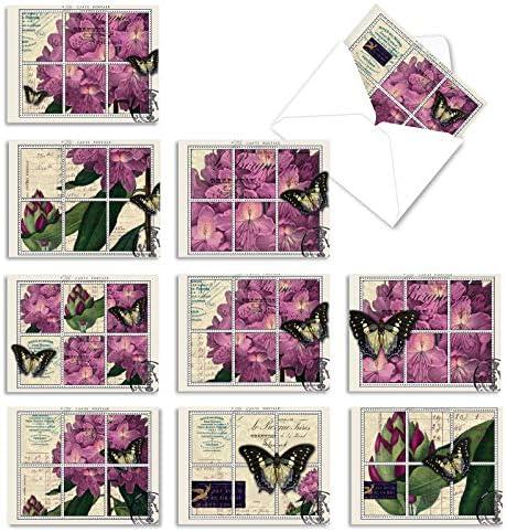 10 'Papillon Post' Thank You Cards...