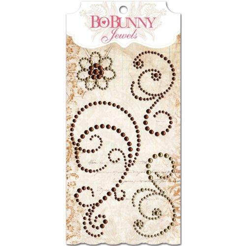 Bo Bunny Self-Adhesive Jewels, Chocolate Bo Bunny Jewels