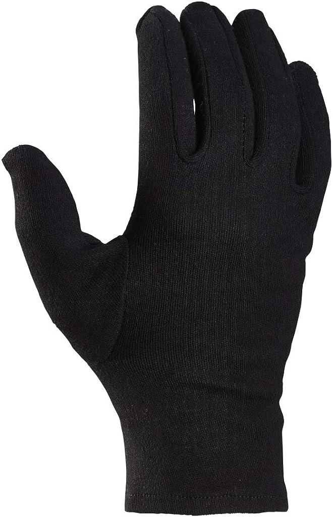 Trikothandschuhe Heimwerker-Produkte 12 Paar Baumwollhandschuhe Stoffhandschuhe wei/ß//schwarz Gr/ö/ße 6-12 mit Schichteln