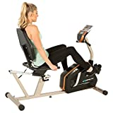 Exerpeutic Gold 975 Recumbent Exercise Bike with 21 Workout Programs