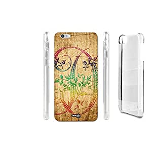 FUNDA CARCASA EFECTO MADERA D LETTER TRIBAL PARA IPHONE 6 PLUS 6S PLUS