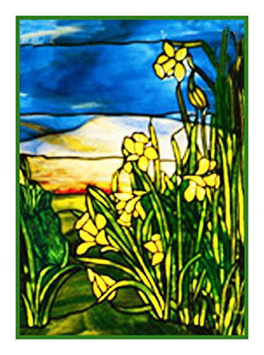 Orenco Originals Daffodils by Louis Comfort Tiffany Counted Cross Stitch Pattern