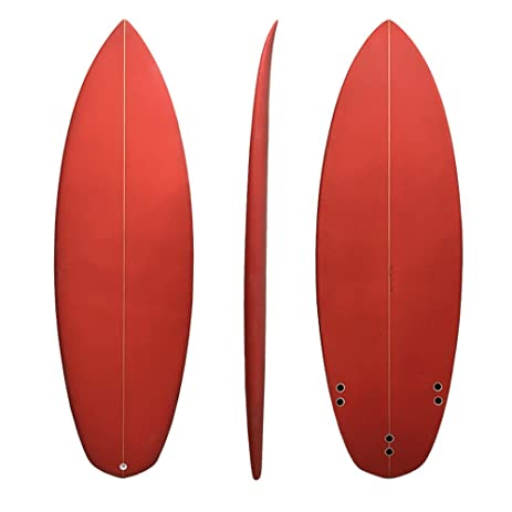 amazon com upsurf pu surfboard 5 6 3fcs system red shortboard