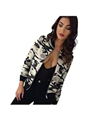 DaySeventh Womens Camouflage Casual Blazer Suit Casual Jacket Coat