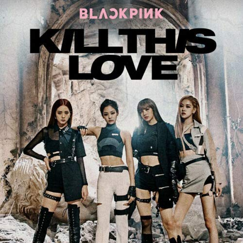 BLACKPINK [KILL THIS LOVE] 2nd Mini Album [BLACK] Ver CD+POSTER+52p Book+Photo Zine+Accordion Lyrics Book+4p Card +1p Polaroid Card+Sticker Set+1p Poster(On...