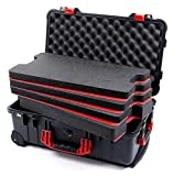 Black & Red Pelican 1510 case with Custom Tool Control Foam Inserts & ABS Plastic