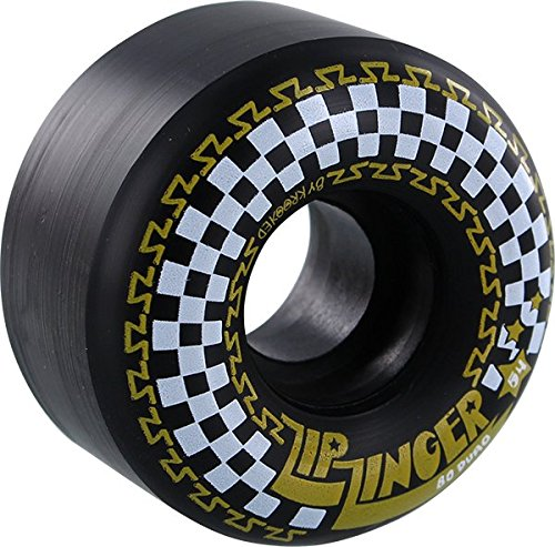 Krooked Zip Zinger 54mm 80a Black/White/Yellow Skate Wheels