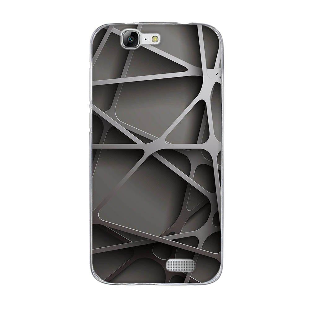 DIKAS Funda Huawei Ascend G7 (L01 L03 C199) Carcasa de Silicona Transparente TPU, Protectora Case Bumper Flexible de Goma de Altisima Calidad para Huawei ...