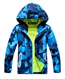 M2C Boys Hooded Color Block Waterproof Jacket with Composite Mesh Blue 9/10