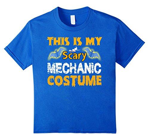 Kids This is my scary Mechanic costume Halloween Gift T-shirt 12 Royal (Mechanic Costume Girl)