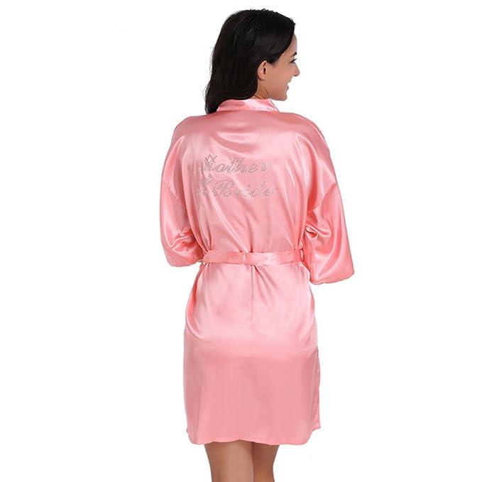 Free Fisher Ropa de Dormir Mujer Batas Cortos Kimono de Casa con ...