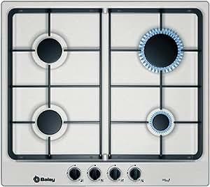 Balay 3ETX394BP hobs - Placa (Incorporado, Gas, Acero inoxidable, Giratorio, 1m, 7400W)