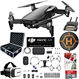 DJI Mavic Air Fly More Combo (Onyx Black) Drone Combo 4K Wi-Fi Quadcopter with Remote Controller Pro Photo Edit Bundle With Case VR Goggles Landing Pad 32GB Memory Card 16GB Drive And Corel Pro X9