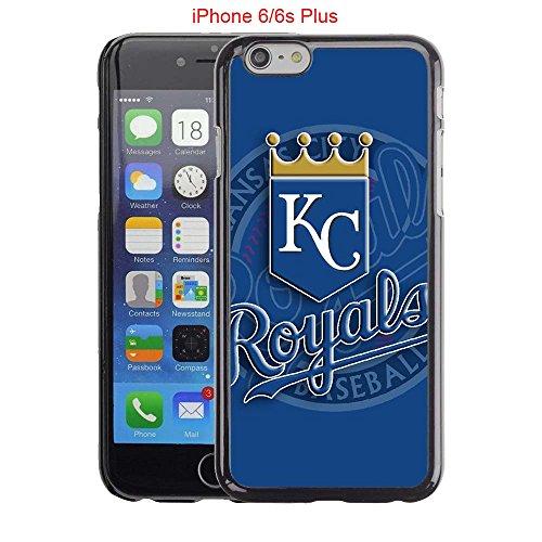 iPhone 6 Plus Case, iPhone 6S Plus Cases, KC Royals Logo 09 Drop Protection Never Fade Anti Slip Scratchproof Black Hard Plastic PC Case