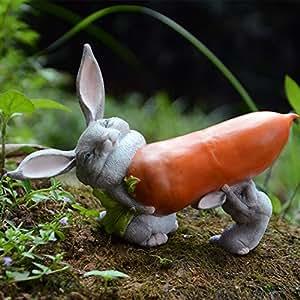 Lazy Puppy Creative hogar decoraciones–resina conejo adornos Paisaje Adornos muebles de dormitorio