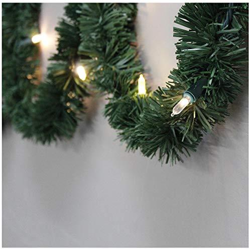 Brite Star AC Lighted Pine Garland, 18' (Lighted 18 Ft Garland)