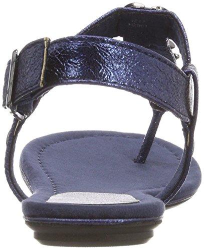 Mujer Sandalia Marco Azul Tozzi Navy Metallic Pulsera 28143 con para WqHWfxZFg1