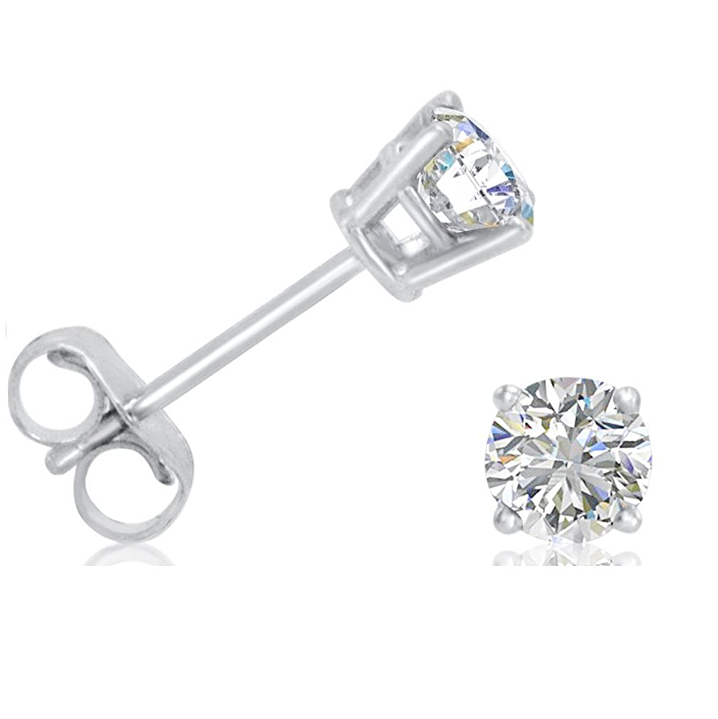 Amazon.com  AGS Certified 1 2ct tw.Round Diamond Stud Earrings set in 14K  White Gold  Jewelry 4f04349637
