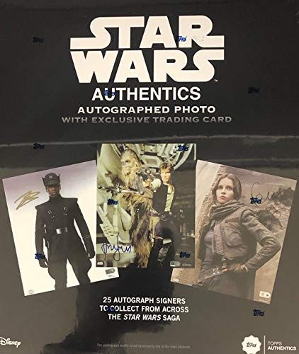 2019 Topps Star Wars Authentics Autographed 8 x 10 Photo & Trading Card Box (Factory - Photo Factory