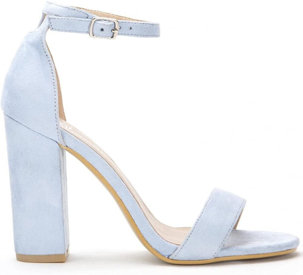 Ladies Baby Blue Barely There Strappy