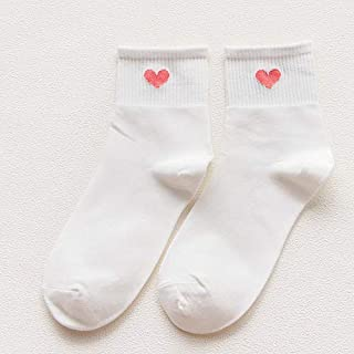 MYQNSGSZ Love Girl Socks Chaussettes Coton Shallow College Short High 3 Double
