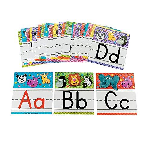 Fun Express - Zoo Animal Alphabet Letters - Educational - Classroom Decorations - Classroom Decor - 26 Pieces ()