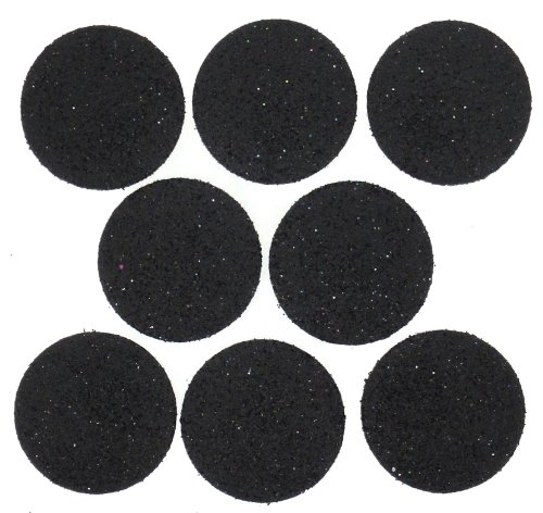 Glitter Dress Dot (Dress It Up 4187 Big Glitter Dots Scrapbooking Embellishment, Black)