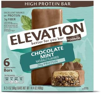 Millville Elevation Mint Chocolate High Protein Bars 14.4oz
