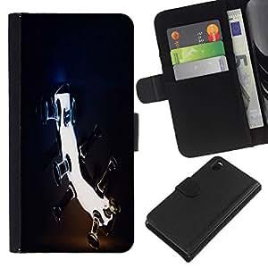 All Phone Most Case / Oferta Especial Cáscara Funda de cuero Monedero Cubierta de proteccion Caso / Wallet Case for Sony Xperia Z3 D6603 // Blah