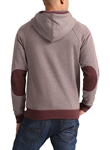 BLEND Stuart - Felpa Con Zip da Uomo, taglia:L;colore:Andorra Red (73811)