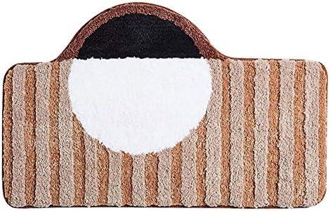 GHHQQZ バスルームのカーペット ノンスリップ 吸水 速乾性 超極細繊維 フットパッド 家庭 バスルームラグ 、1色、厚さ2.5 cm、6サイズ (Color : A, Size : 40x60+50x80cm)