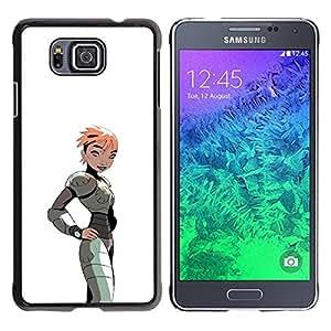 Be Good Phone Accessory // Dura Cáscara cubierta Protectora Caso Carcasa Funda de Protección para Samsung GALAXY ALPHA G850 // Girl Woman Cartoon Comic Gaming Art Costume