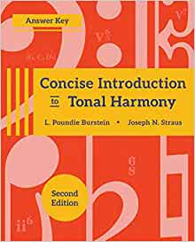 Concise Introduction to Tonal Harmony * Answer Key: Amazon ...