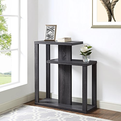 Foyer Console Reviews : Weathered grey finish hall console sofa entry accent table