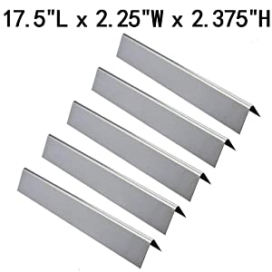 "GasSaf Set of 5 Stainless Steel Flavorizer Bars Heat Tent Replacement for Weber Genesis 300,E310,S310,E330,EP310,EP320,EP330,S310,S330 Series Grill(17.5"" x 2.25"" x 2.375"")"