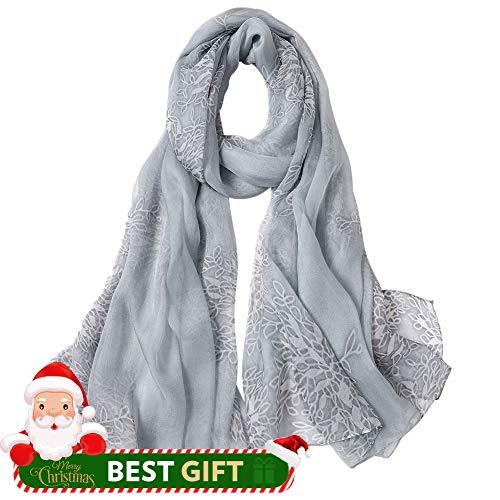 Womens Neck Scarf (Women's Silk Scarf Fashion Sunscreen Shawls Wraps for Headscarf&Neck)
