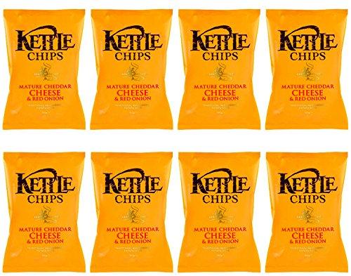 Kettle Chips Patatas Fritas con Nata Agria y Cebolla Dulce - Paquete de 8 x 150 gr - Total: 1200 gr: Amazon.es: Alimentación y bebidas