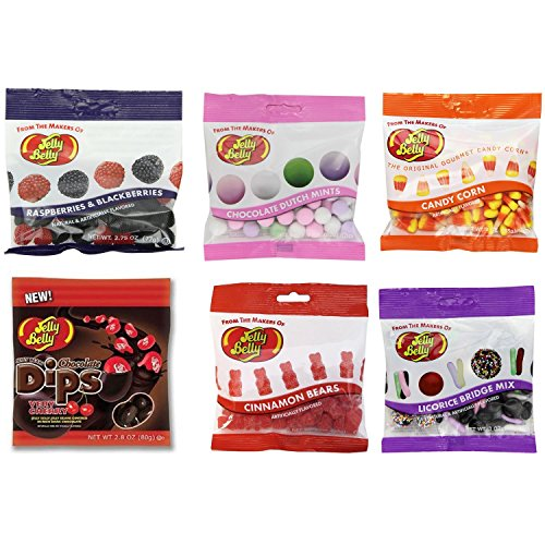 Jelly Belly Speciality Assorted Flavors - 6 Grab and Go Bags