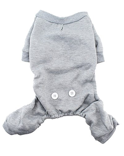 Big Dog Fleece (Warm Fleece Dog Pajamas by Midlee (XXX-Large, Gray))
