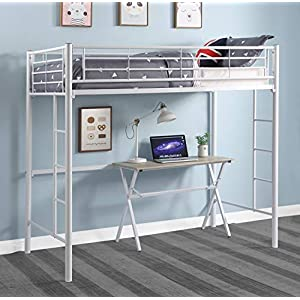 DCraft Berdine Metal Loft Bed, Twin