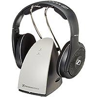 Sennheiser RS120 On-Ear Wireless RF Headphones w/ Charging Dock (Black) - Refurbished