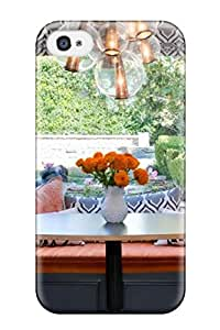 Durable Protector Case Cover With Gray And Orange Kitchen Banquette Hot Design For Iphone 4/4s