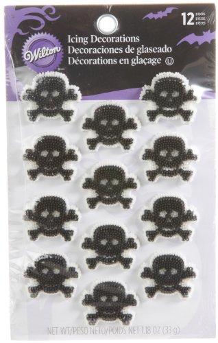 Wilton 710-234 Halloween Skull and Bones Icing Decorations