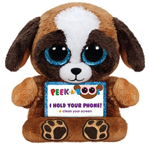 Ty Peek-A-Boo Phone Holder with Screen Cleaner Bottom, Pups Dog