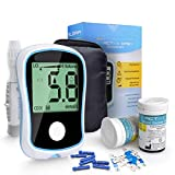 Blood Glucose Meter Medical Device for Measuring Blood Sugar Glucometer with Diabetic Test Strips for Diabetes