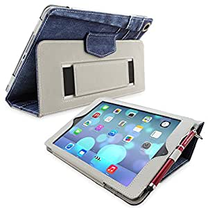 iPad Air (iPad 5) Case, Snugg™ - Smart Cover with Flip Stand & Lifetime Guarantee (Blue Denim) for Apple iPad Air (2013)