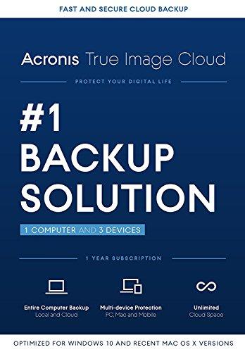 Acronis True Image Cloud - 1 Computer, 3 Device
