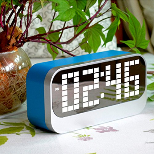 KINGEAR 8802 Digital Alarm Clock Blue