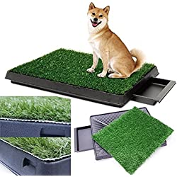 Indoor Puppy Dog Pet House Potty Training Pee Pad Mat Tray Grass Toilet