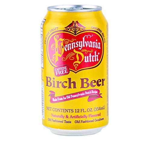 Dutch Birch Beer - PA Dutch Birch Beer, Popular Amish Beverage, 12 Oz. Cans (One 6-Pack)